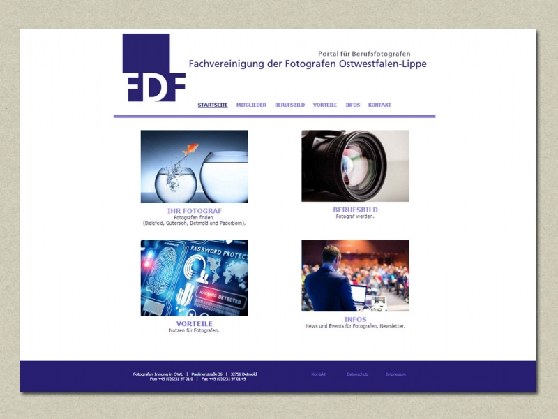 Homepage FDF